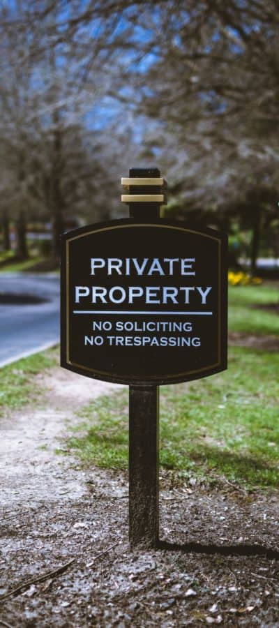 black-and-white-private-property-signage-951375