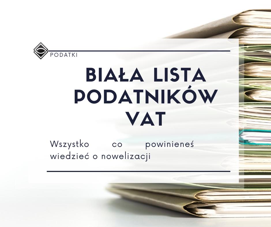 VAT - biała lista podatników