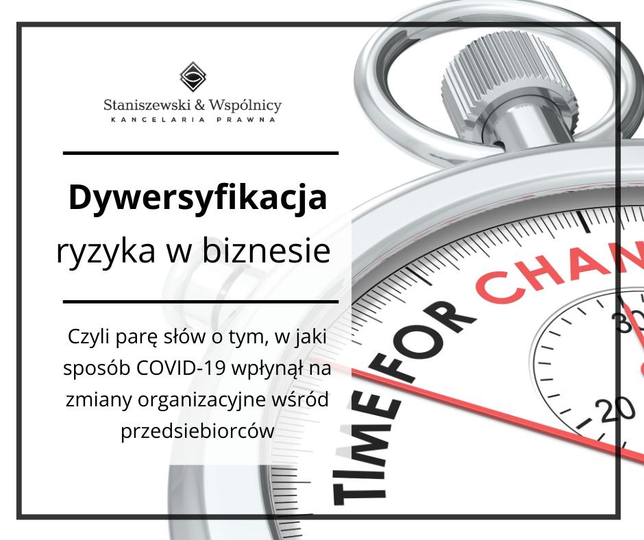 Kondycja polskich firm w obliczu światowej pandemii: dywersyfikacja ryzyka w biznesie