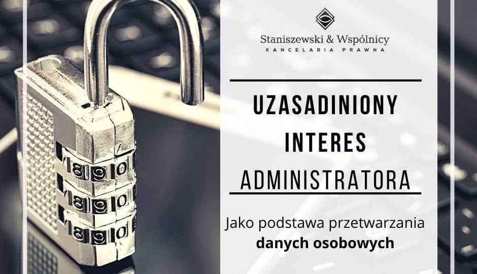 RODO Interes Administratora danych osobowych