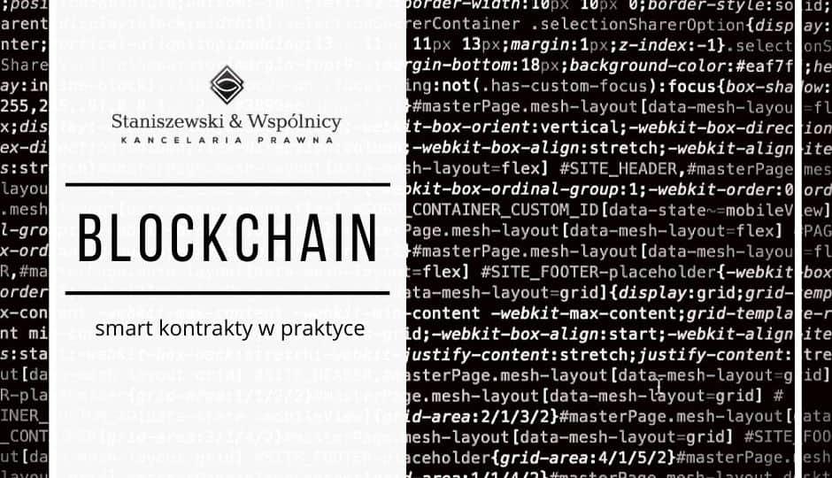 Blockchain – smart kontrakty w praktyce.