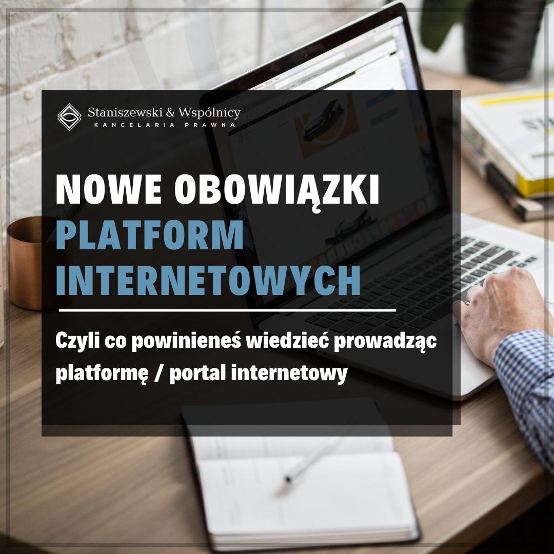 Obowiązki platform internetowych według Aktu o usługach cyfrowych