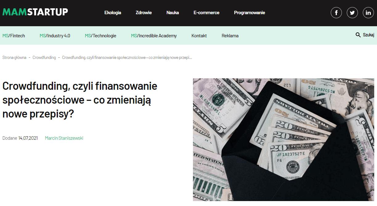 Crowdfunding, czyli finansowanie społecznościowe – co zmieniają nowe przepisy?
