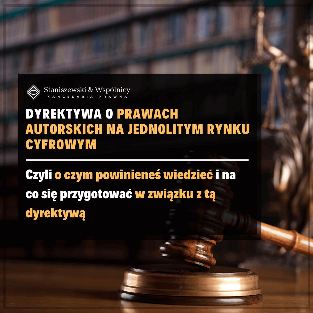 O co chodzi z dyrektywą w sprawie praw autorskich na jednolitym rynku cyfrowym?