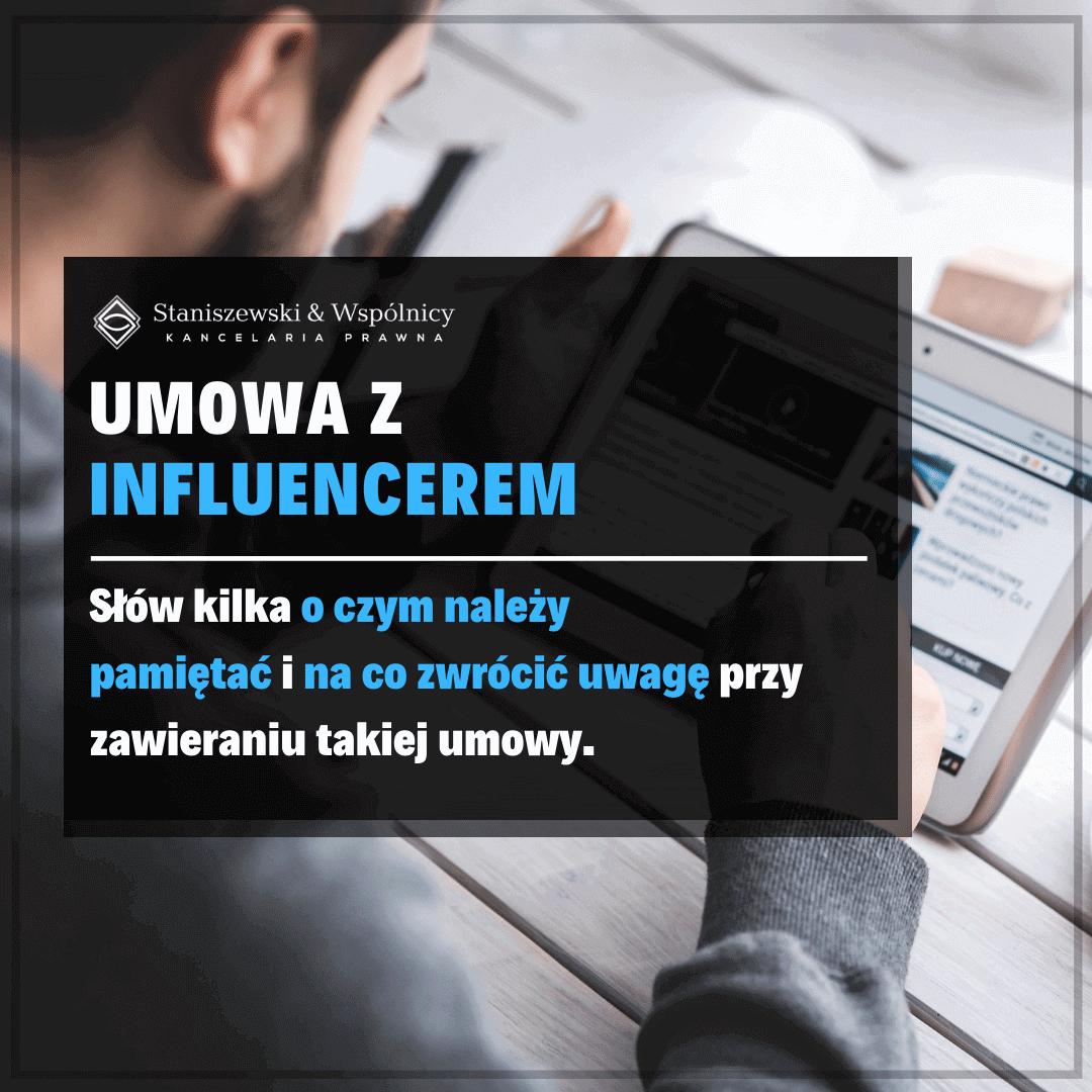 Umowa z influencerem. O czym należy pamiętać i na co zwrócić uwagę?