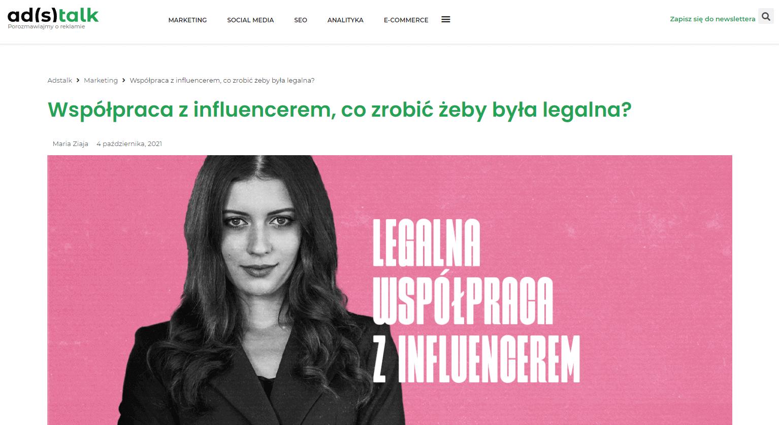 Współpraca z influencerem, co zrobić żeby była legalna?